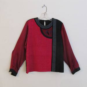 Bonnie Durant wearable-art silk blouse